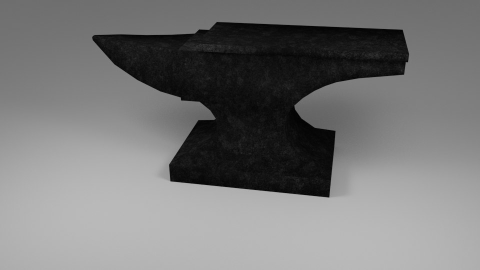iron anvil 3d 3ds