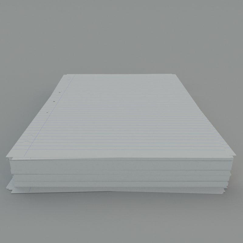 3ds max stack a4 lined paper
