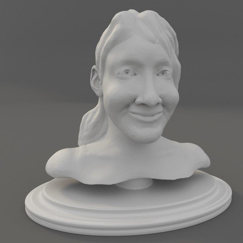 3d bust sculpt