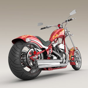 3d big dog k9 chopper motorcycle model