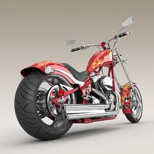 3d big dog k9 chopper motorcycle model