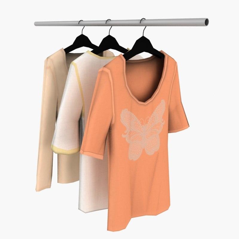 woman blouses 3d max