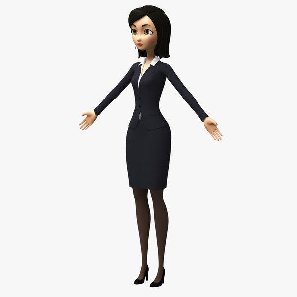 max cartoon toon woman