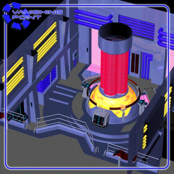 starship room engineering poser figure 3d pz3
