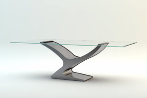table glass 3d 3ds