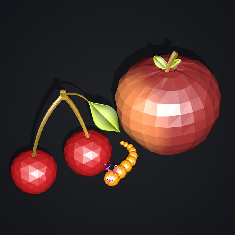 3d model of fruits