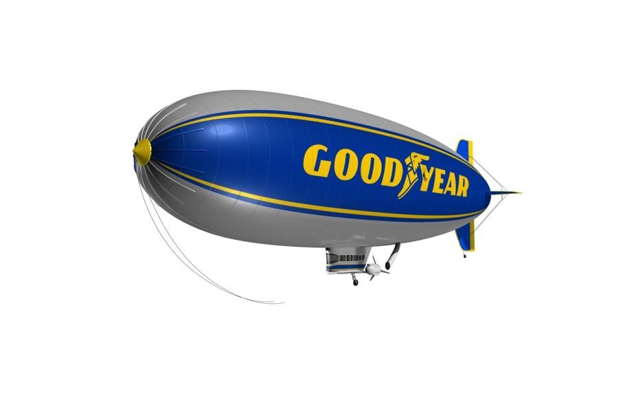 goodyear airship 3d model