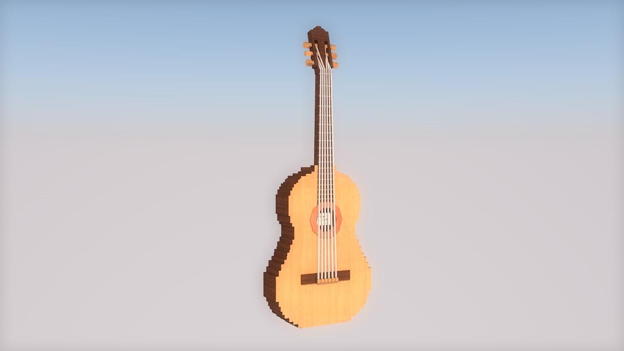 c4d guitar hd