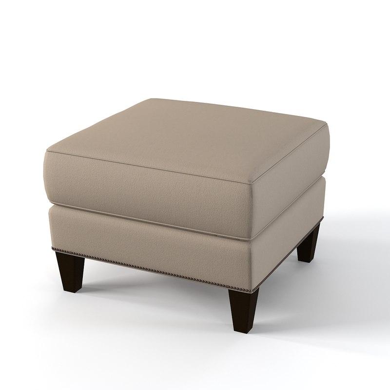 3d model lexington pouf