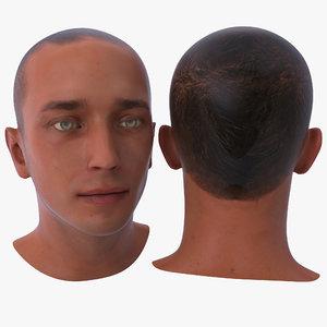 3d model male head 17