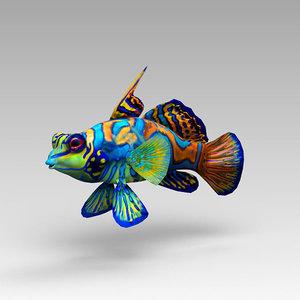 3d mandarin fish