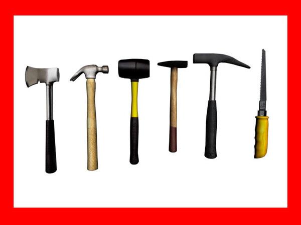 3d hammers handsaw model