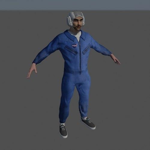 rig nasa jumpsuit 3d model