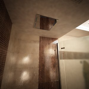 3d model ceiling hand shower water