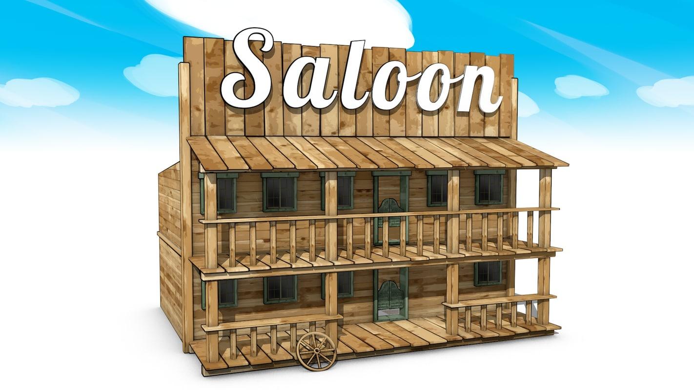 wild west saloon obj. Black Bedroom Furniture Sets. Home Design Ideas