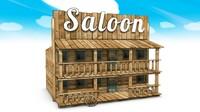 wild west saloon obj