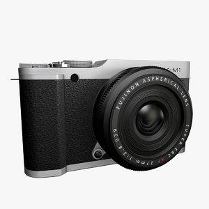3d model fujifilm x-m1 camera