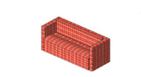 Sofa (Revit 2012 with materials and dimensions parameters)