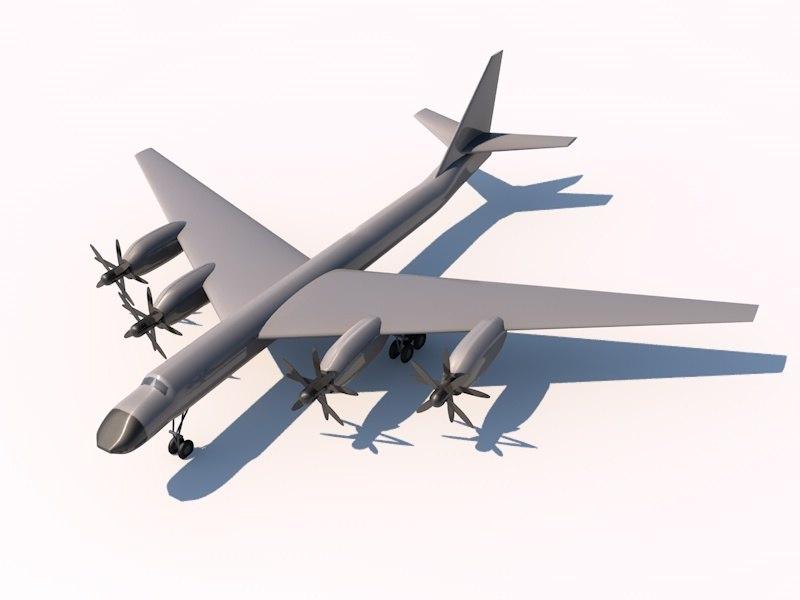 tupolev bomber 3d c4d