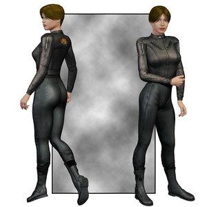 3d model clothes v4 poser