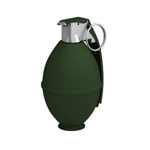 m61 grenade 3d max