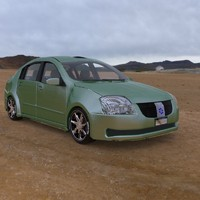 3d vehicle family sedan poser