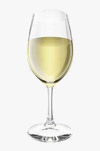 wine glass tequila - 3d model