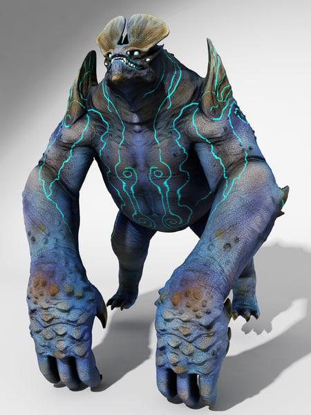 monster pacific rim 3d max
