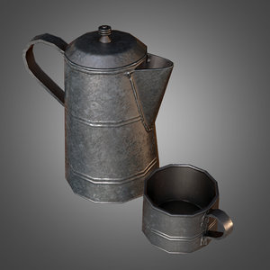 metal coffee canteen cup fbx