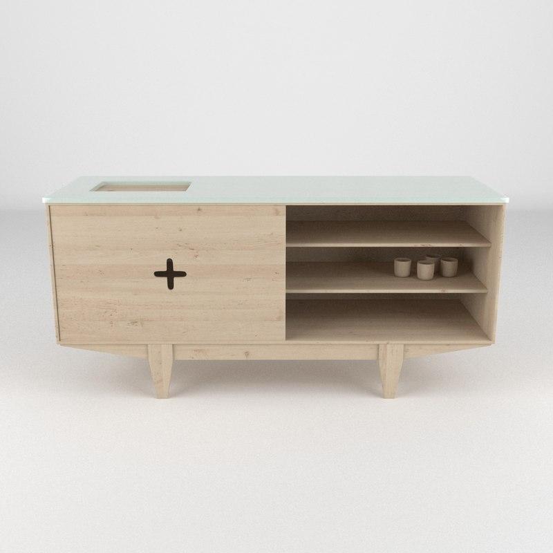 3d model dresser realistic