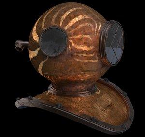 3ds max old helmet