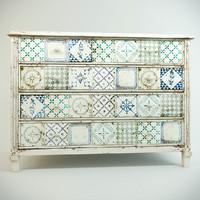 chest drawers vintage 3d model