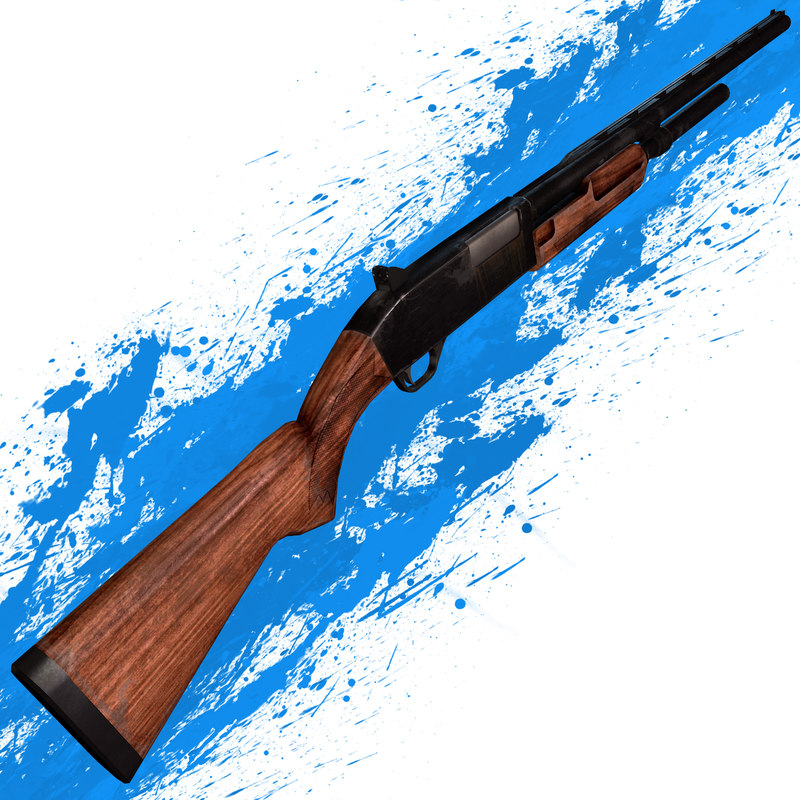 3d model of molot bekas automatic shotgun