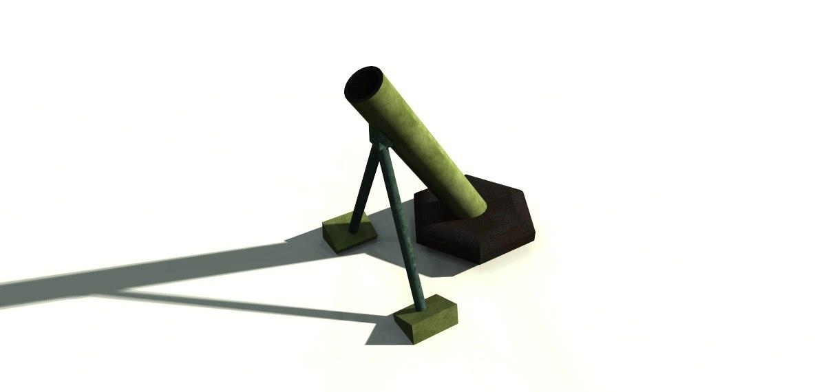 mortar morta 3d 3ds