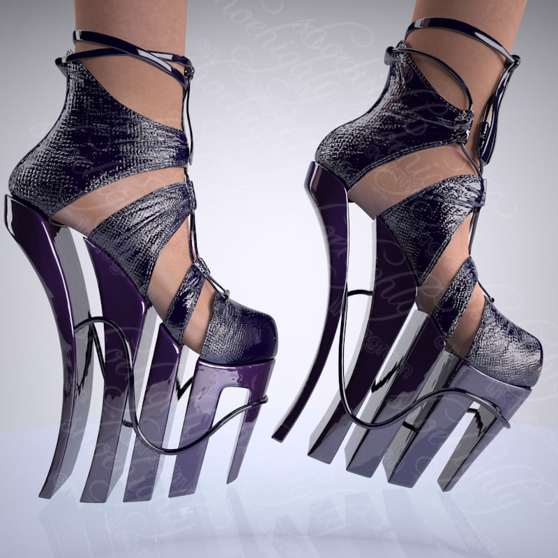 3d shoe female model