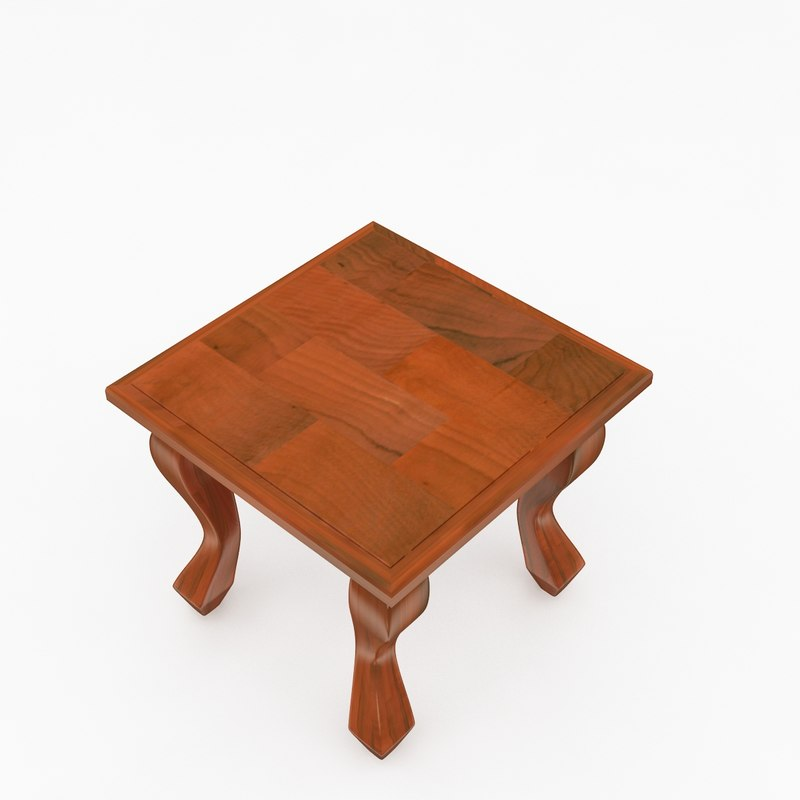 wooden stool wood 3d 3ds