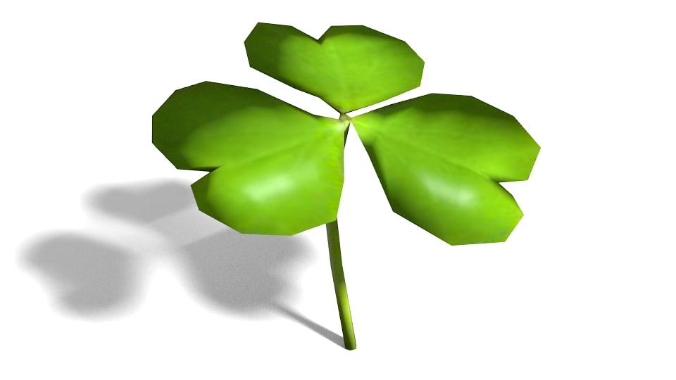 3d model shamrock clover