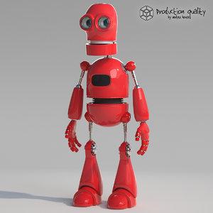 3d red robot