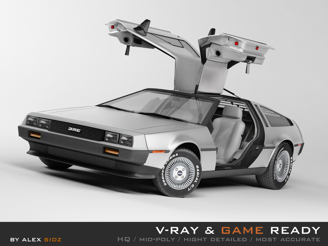 delorean dmc-12 3d 3ds
