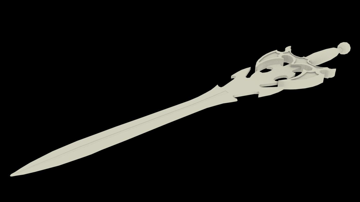 3ds max fantasy sword