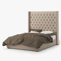 adler upholstered bed max