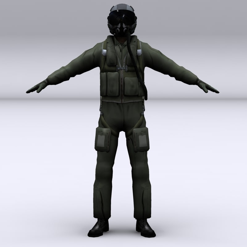 3d american fighter pilot