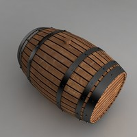whiskey barrel 3d max