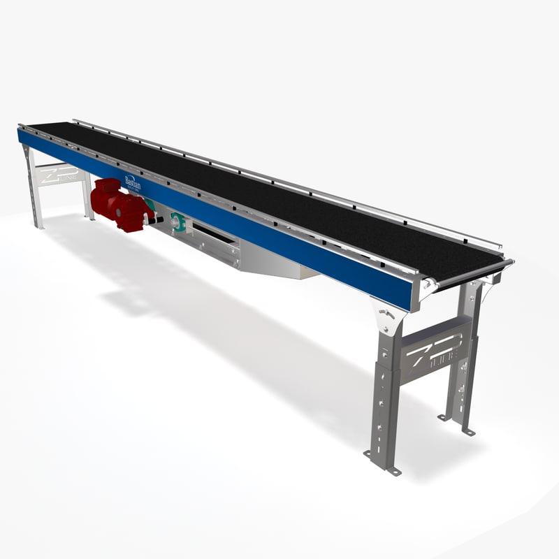 belt roller ac conveyor 3d model