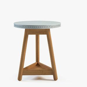 3d bethan brogue table model