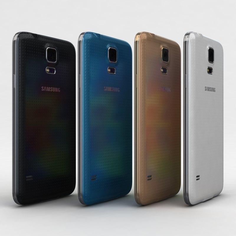 3d samsung galaxy s5 colors model