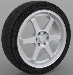 wheel obj