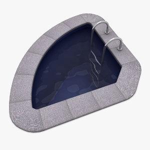 3d plastic pool model