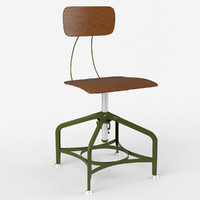 3d photorealistic vintage toledo dining chair