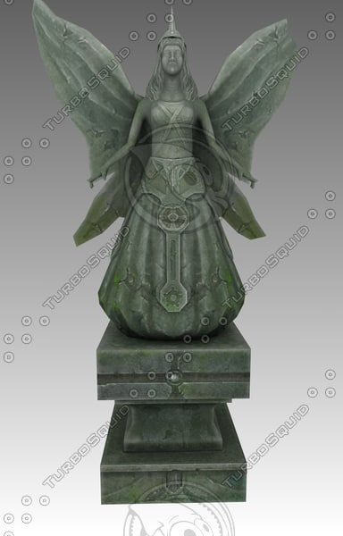 free monument angels 3d model